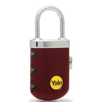 Yale Luxe Bagage Hangslot met cijferslot Bordeauxrood