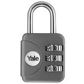 Yale Bagage Hangslot met cijferslot grijs