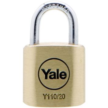 Yale Hangslot messing 20 mm (4 stuks)