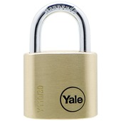 Yale hangslot standaard massief messing 30 mm