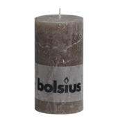 Bolsius stompkaars rustiek taupe 130x68