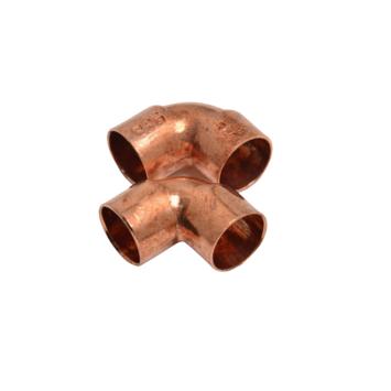 KARWEI bocht roodkoper 15x15 mm 90° 2 stuks