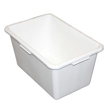 Stuckuip rechthoekig 45 liter wit