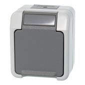 Merten stopcontact geaard grijs