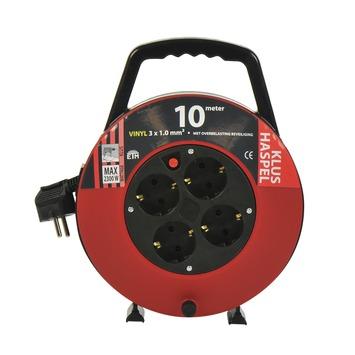 ETM kabelbox zwart/rood 10 m