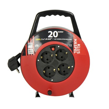 ETM kabelbox zwart/rood 20 m