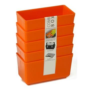 Inzetbakje voor assortimentsdoos ca. 8x4x4 cm oranje 5 stuks