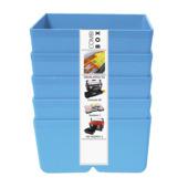 Inzetbakje voor assortimentsdoos ca. 8x12x4 cm blauw 3 stuks