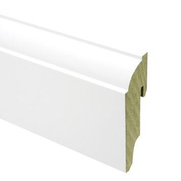 CanDo muurplint kwart rond wit gegrond 1,9 x 8 x 240 cm