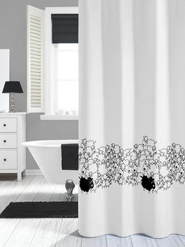 Karwei Flock douchegordijn textiel 180x200 cm wit
