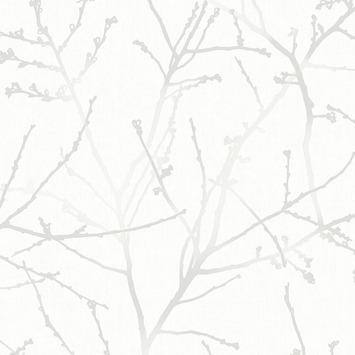 Vliesbehang innocence wit mica (dessin 33-275)