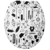 Handson Fynn toiletbril duroplast met vogel