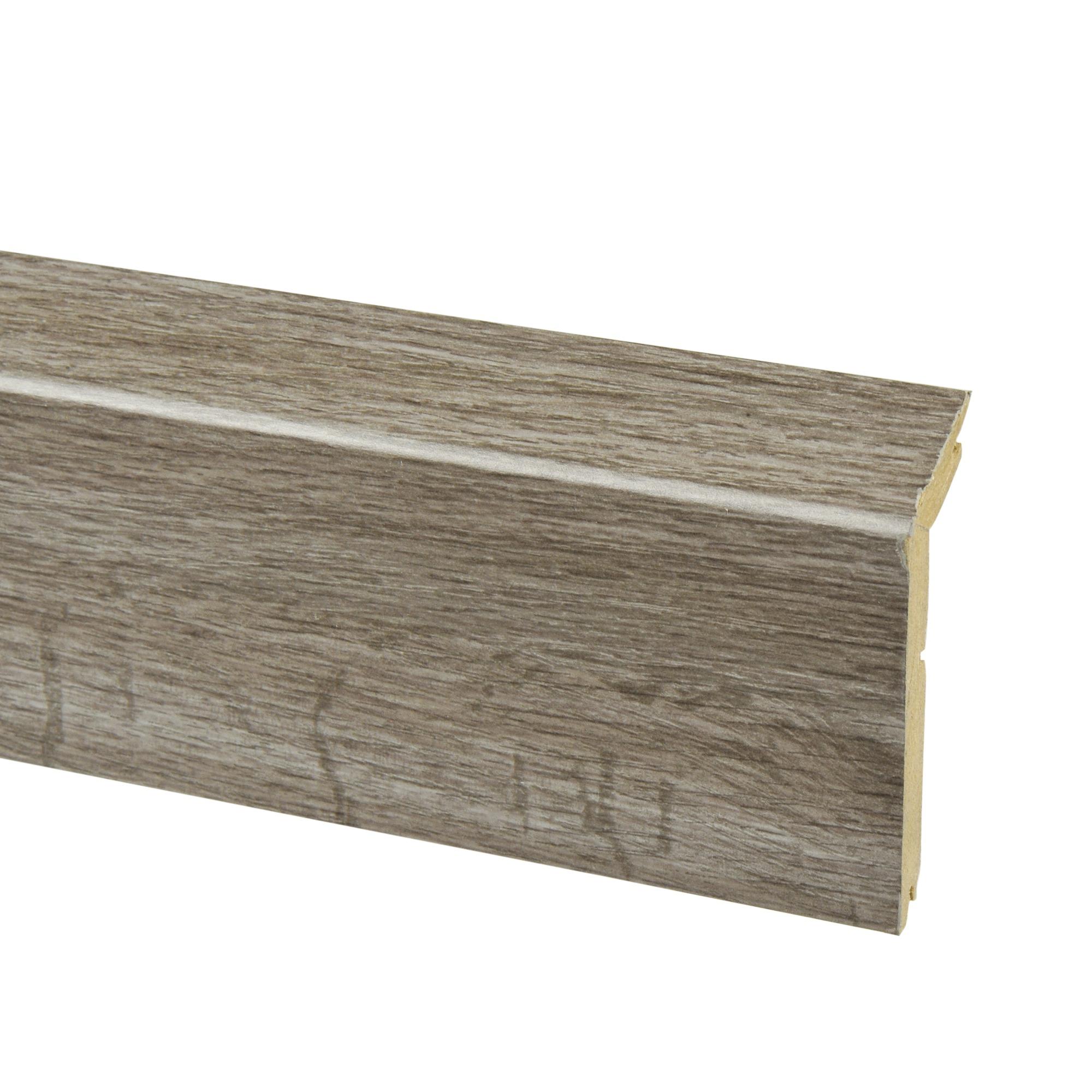 Overzetplint donkergrijs eiken nr 446 240 cm plinten for Karwei plinten