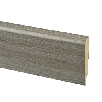 Cando original laminaat donker grijs eiken 2 4 m kopen for Karwei plinten
