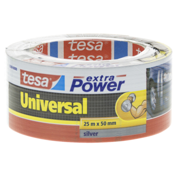 Tesa Universal tape 25mx50mm extra power zilver