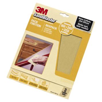 3M™ Sandblaster schuurpapier goud 230x280mm 3 stuks