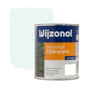 Wijzonol metaallak zijdeglans ijswit 750 ml