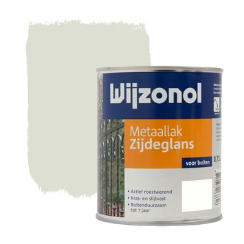 Wijzonol metaallak zijdeglans cremewit (RAL9001) 750 ml