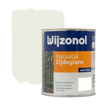 Wijzonol metaallak zijdeglans zuiver wit (RAL9010) 750 ml