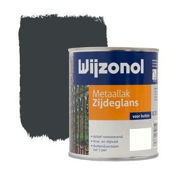 Wijzonol metaallak zijdeglans antraciet 750 ml