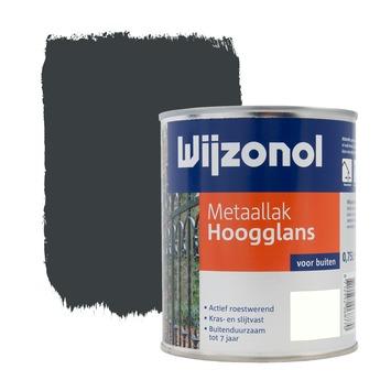 Wijzonol metaallak hoogglans antraciet 750 ml