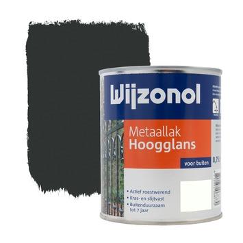 Wijzonol metaallak hoogglans zwart 750 ml