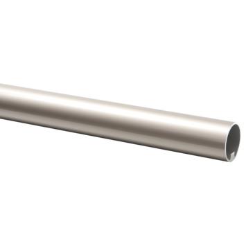 CanDo trapleuning rond Ø 45 mm aluminium met RVS look, lengte 390 cm