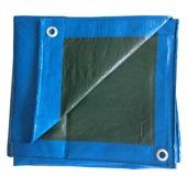 Afdekzeil ca. 4x6 meter, blauw/groen