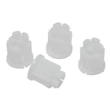 KARWEI dopjes voor kraan bovendeel wit 2 stuks