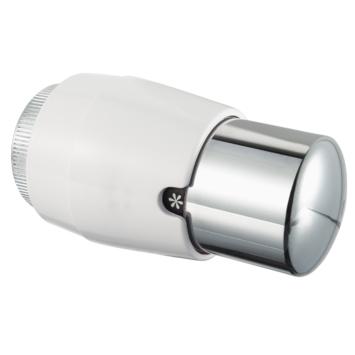 Karwei Therm. Radiatorknop Wit/Chroom