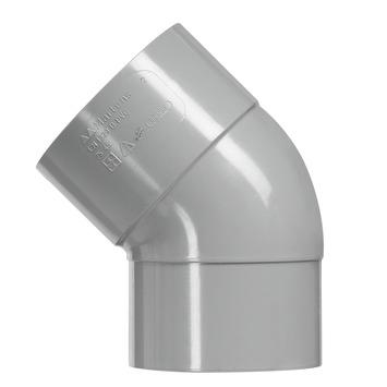 Martens PVC bocht 45° grijs 1x mof 32 mm