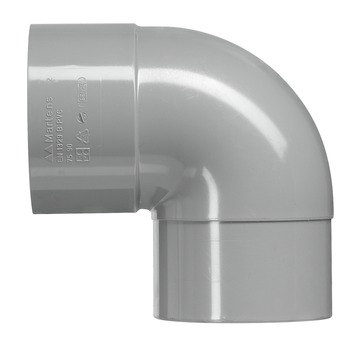 Martens PVC bocht 90° grijs 1x mof 32 mm