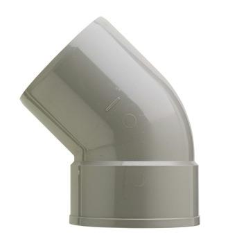 Martens PVC bocht 45° grijs 1x mof 110 mm