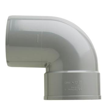 Martens PVC bocht 90° grijs 1x mof 110 mm