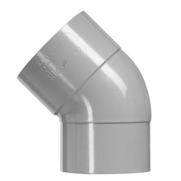 Martens PVC bocht 45° grijs 1x mof 75 mm