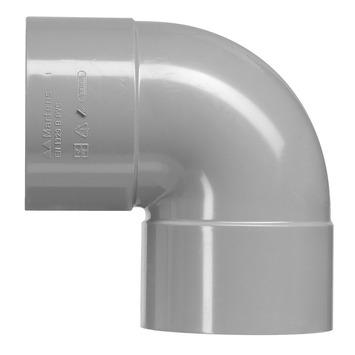 Martens PVC bocht 90° grijs 2x mof 75 mm