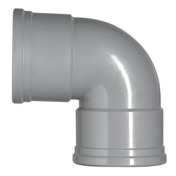 Martens PVC bocht 90° grijs 2x manchet 110 mm