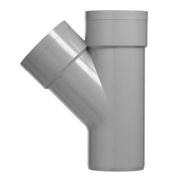 Martens PVC T-stuk 45° 2x mof 40x40 mm