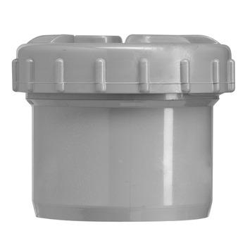 Martens PVC eindstop met schroefdeksel 110 mm grijs