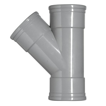 Martens PVC T-stuk 45° 3x manchet 125x125 mm