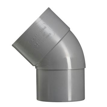 Martens PVC bocht 45° grijs mof/verjongd 70 mm