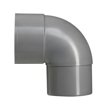 Martens PVC bocht 90° grijs mof/verjongd 70 mm