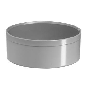 Martens PVC eindkap 125 mm grijs
