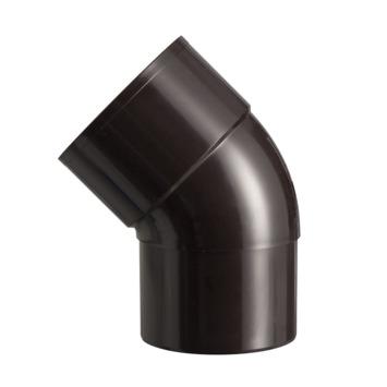 Martens PVC bocht 45° bruin mof/verjongd 80 mm