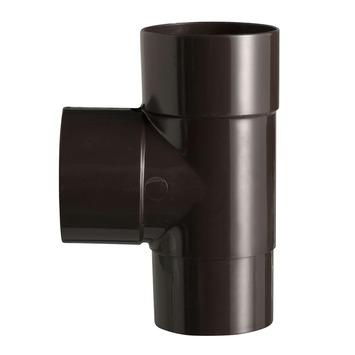 Martens PVC T-stuk 90° Bruin Mof/ Verjongd 70 x 70 mm