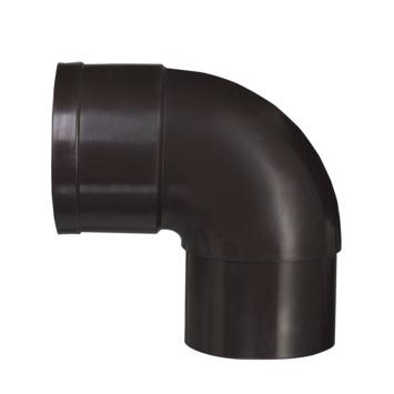 Martens PVC bocht 90° bruin mof/verjongd 60 mm