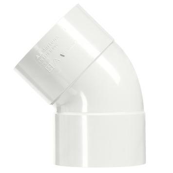 Martens PVC bocht 45° wit 2x mof 32 mm
