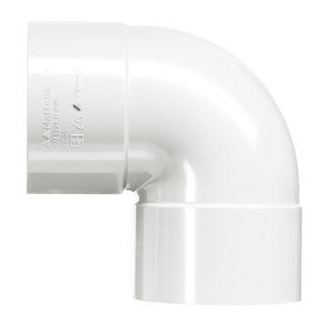 Martens PVC bocht 90° wit 2x mof 40 mm