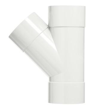 Martens PVC T-stuk 45° 3x Mof 32 x 32 mm Wit