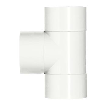 Martens PVC T-stuk 90° 3x Mof 32 x 32 mm Wit